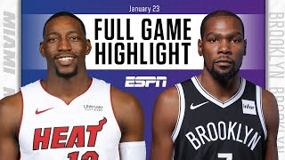 Miami Heat vs. Brooklyn Nets [FULL GAME HIGHLIGHTS] | NBA on ESPN