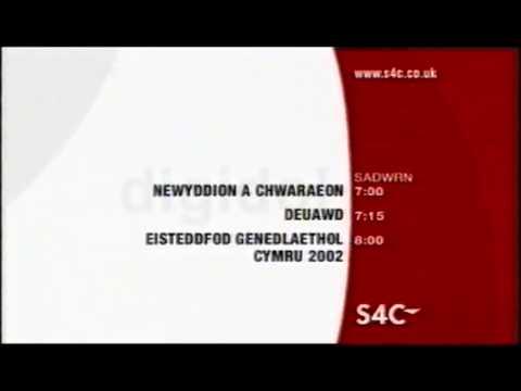 S4C Digidol Menu + Newyddion titles - 2002