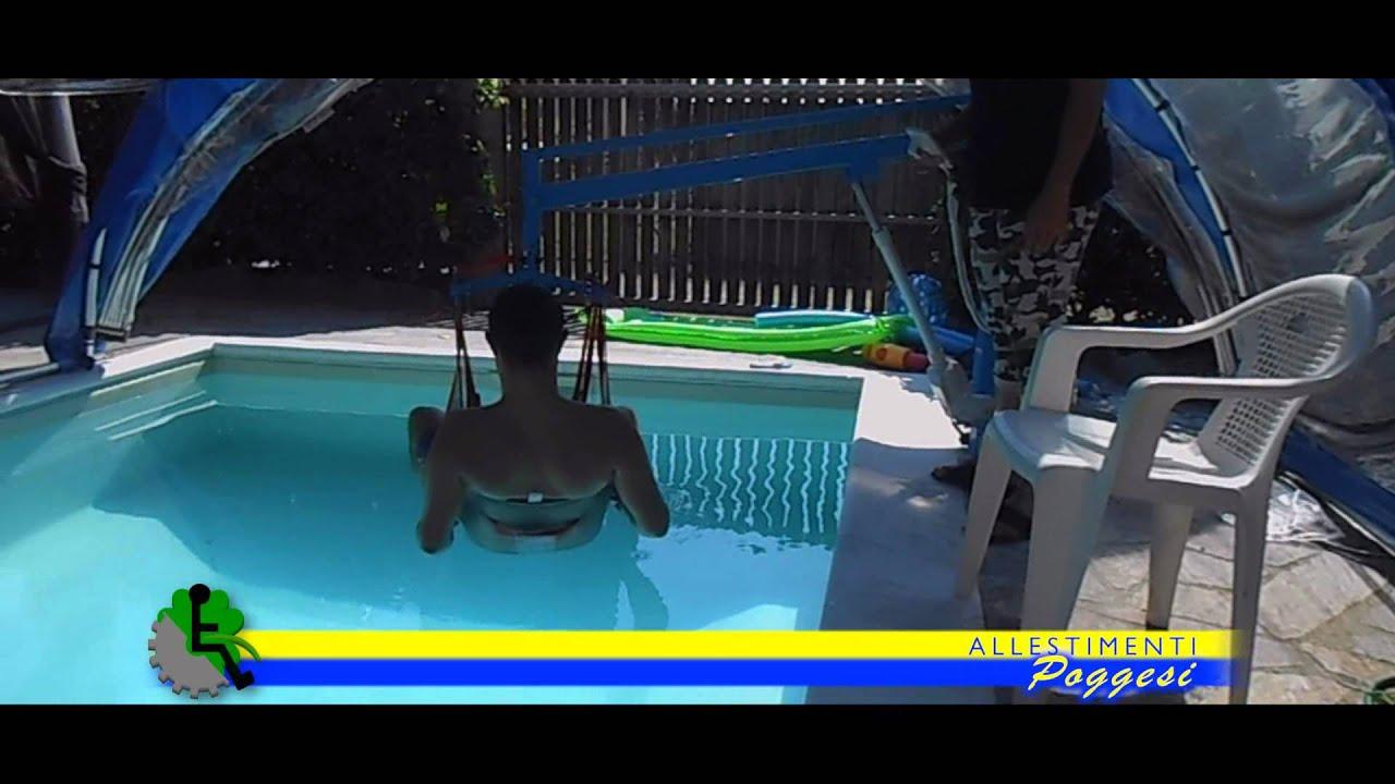 Sollevatore per piscina a bandiera con imracatura per - Sollevatore piscina per disabili ...
