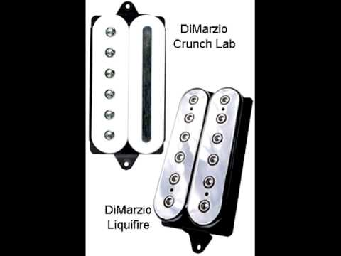 new pickups dimarzio crunch lab and liquifire youtube. Black Bedroom Furniture Sets. Home Design Ideas