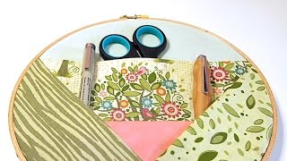 Embroidery Hoop No Sew Wall Organizer Tutorial