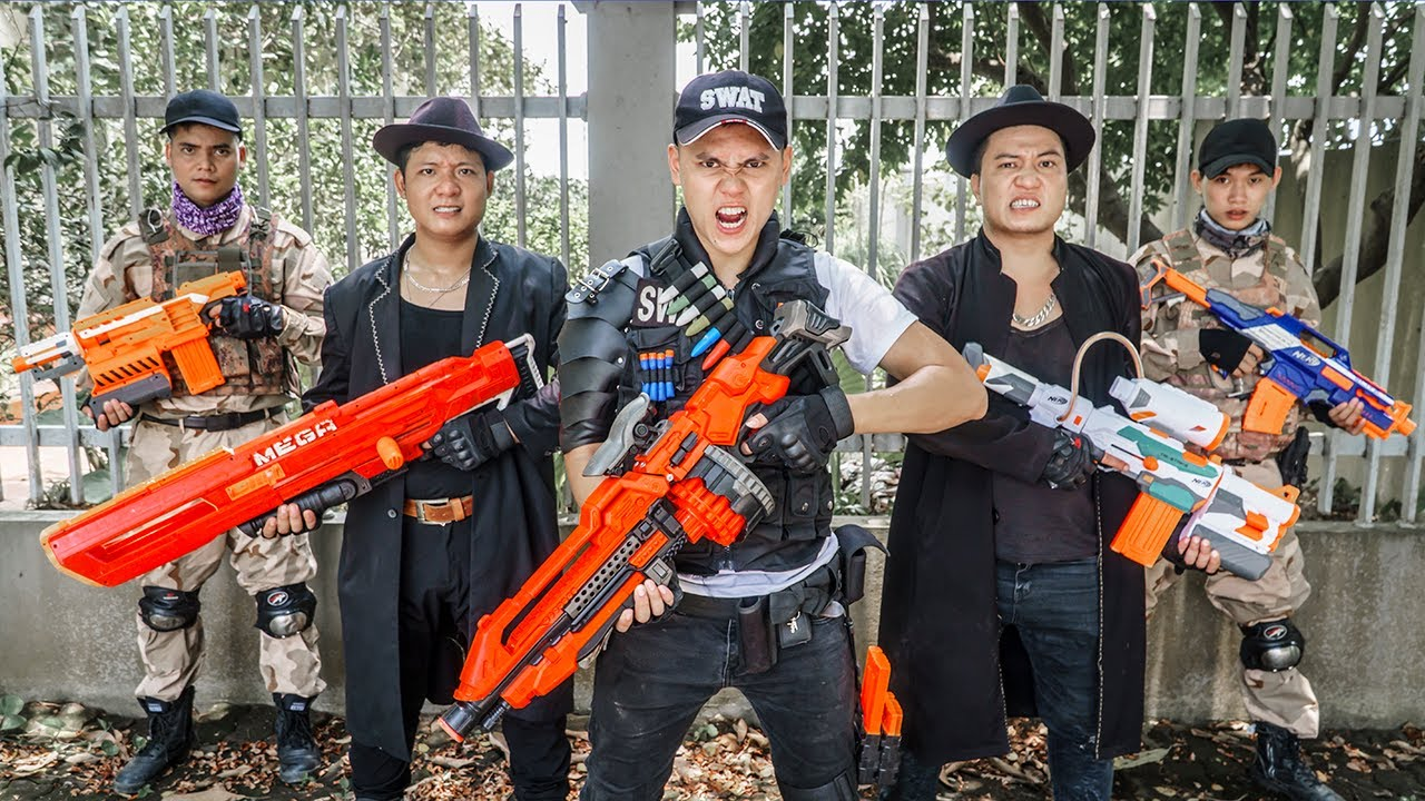 LTT Game Nerf War : Special Police Warriors SEAL X Nerf Guns Fight Braum Crazy Impersonating Boss