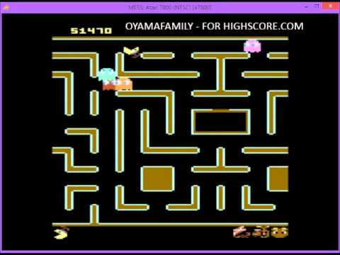 7800 Jr  Pacman Teddy Bear And Difficulty AA  75990 Points