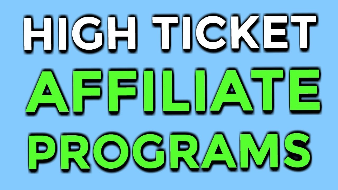 WHY HIGH TICKET AFFILIATE PROGRAMS ARE YOUR BLUEPRINT TO FINANCIAL FREEDOM