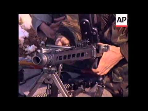 BOSNIA: BOSNIAN GOVERNMENT SOLDIERS CONTINUE FRONTLINE DUTIES