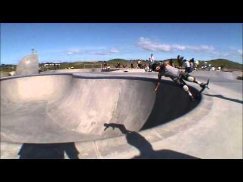 Barry Curtis pool skateboarding , also Waiuku bowl and Clarks beach skatepark