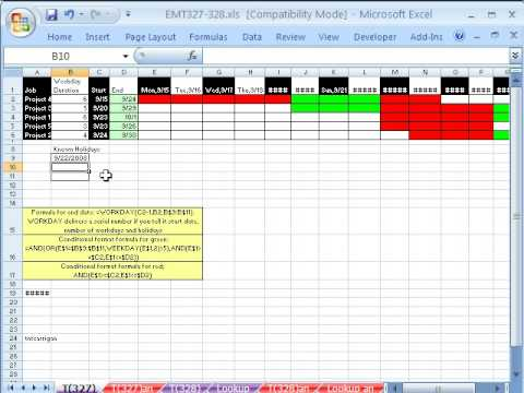 Excel magic trick 327 gantt chart with weekends and holidays excel magic trick 327 gantt chart with weekends and holidays ccuart Image collections