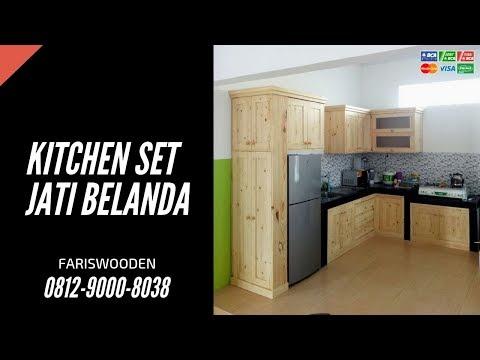 Harga Kitchen Set Jati Belanda #FurnitureJatiBelanda | Pinewood #Fariswooden