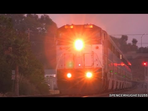 Amtrak Trains - Dash 8 #507 On The Del Mar Block (August 4th, 2013) AWESOME K5LA ACTION !!!