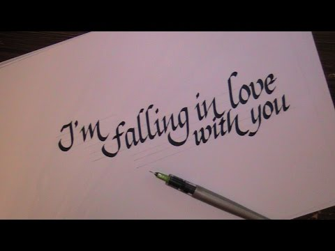 cursive letters - how to write calligraphy letters - love - YouTube
