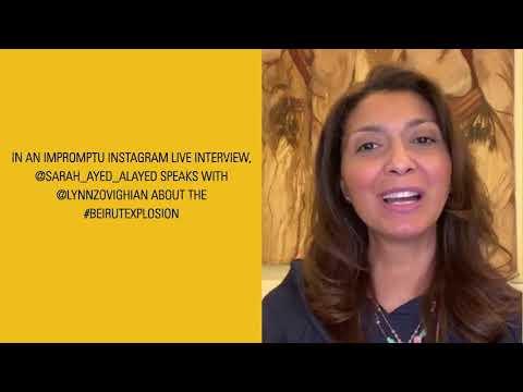 Beirut Explosion Lebanese Women Entrepreneurs Special   Sarah Ayed Al Ayed interviews Lynn Zovighian