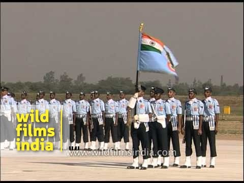 IAF officers gather for ceremonial parade on Air Force day