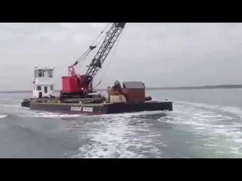 Barge and Crane Video