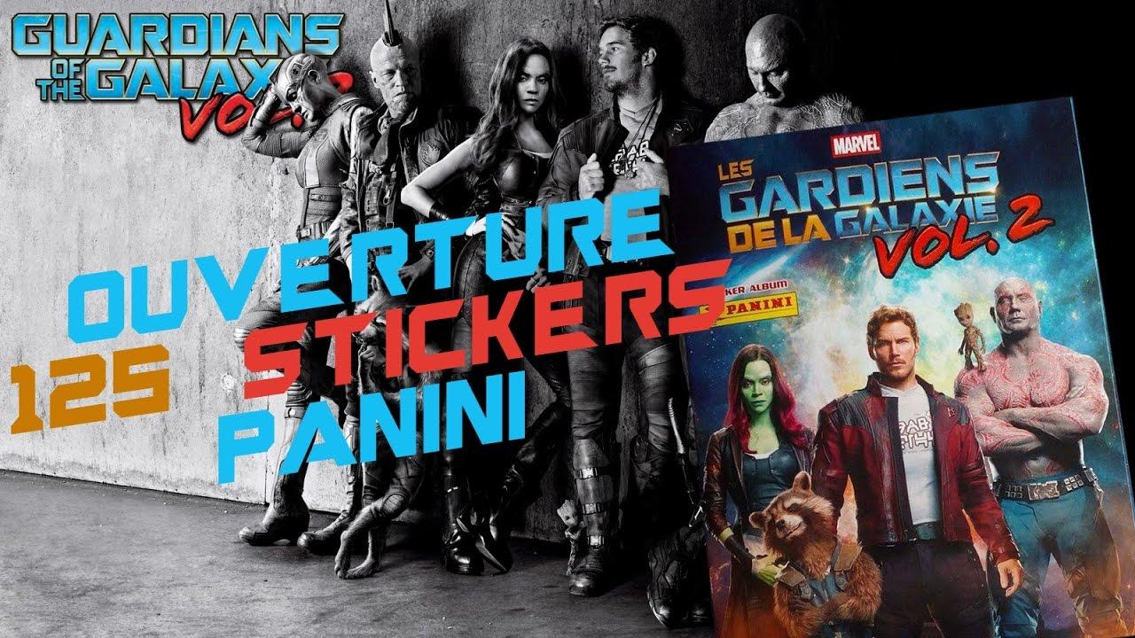 Ouverture Stickers Panini Les Gar ns De La Galaxie Vol 2