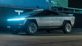 Tesla CyberTruck - Первый тест-драйв пикапа / Видео