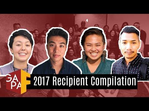 2017 GAPA Foundation Scholarships & Grants Recipient Compilation