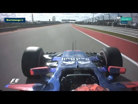 Brendon Hartley's first Qualifying in F1 - COTA 2017