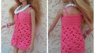 Сарафанчик для Барби. Мастер класс. Sarafanchik For Barbie.