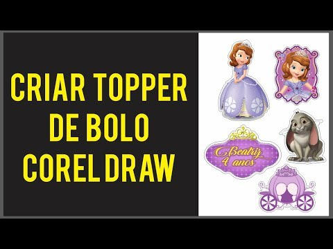 Criar Topper De Bolo Corel Draw Tutorial