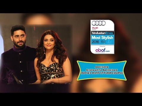 HINDUSTAN TIMES MOST STYLISH 2016 DELHI - Abhishek Aishwarya Bachchan INDIA'S MOST STYLISH COUPLE