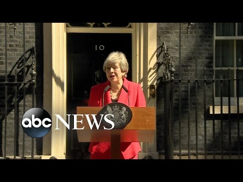 UK Prime Minister Theresa May resigns