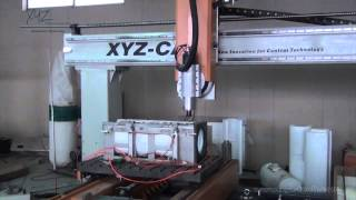 Xyz-cam P4-2 1208 4 Axis Simultaneous Cnc Router Twin Table Moving