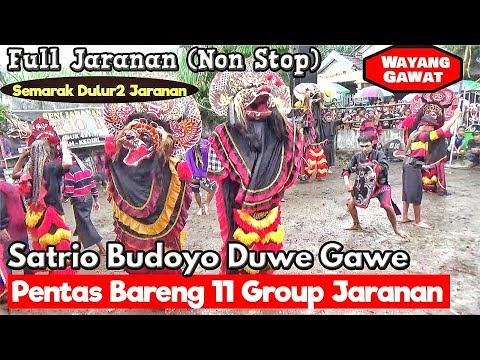Satrio Budoyo Pentas Bareng 11 Group Jaranan--Full Jaranan---Mantep ing Solah - 동영상