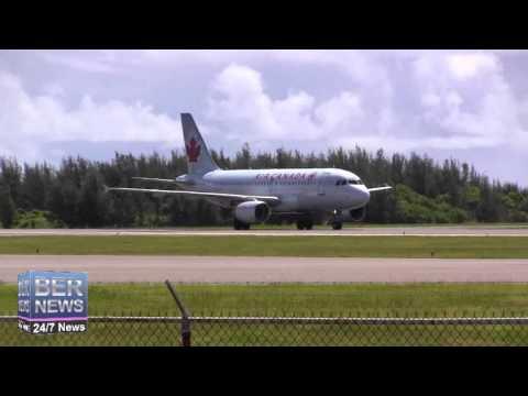 Emergency Services Meet Air Canada Airplane, September 13 2014