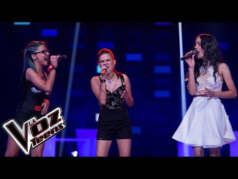 Kammy, Saray y Betzabeth cantan 'Halo' | Batallas | La Voz Teens Colombia 2016