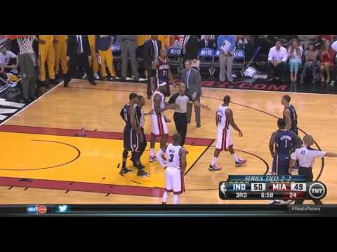 David  West  and Udonis Haslem Fight in Geme 5 ECF
