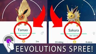 HOW TO EVOLVE EEVEE! Sakura Tamao Name Trick Works One Time! PLUS Eevolutions Spree!