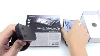 Garmin DriveLuxe 50LMT-D Unboxing HD (010-01531-10)