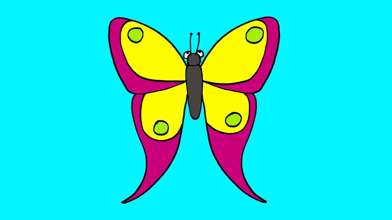 Apprendre dessiner un papillon youtube - Dessiner un papillon ...