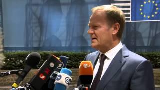 Doorstep at the June European Council