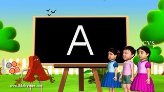 Repeat youtube video Alphabet songs | Phonics Songs | ABC Song for children - 3D Animation Nursery Rhymes