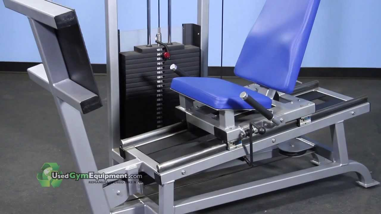 used refurbsihed life fitness pro seated leg press circuit