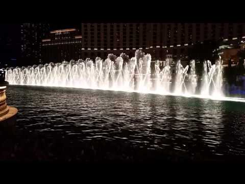 Por ti volare - Andre Bocelli and Celine Dion the Bellagio water dance in Las Vegas 9.21.2016