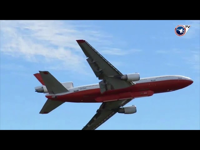 DC-10 Air Tanker / 10 Tanker / Ten Tnker / en Chile / Descarga a baja altura