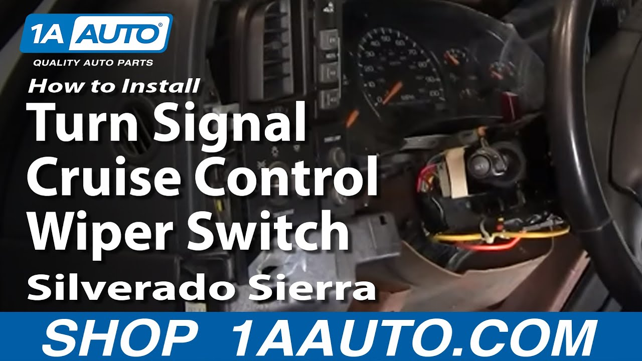 How To Install Replace Turn Signal Cruise Control Wiper Switch Wiring Diagram Silverado Sierra 99 02 1aautocom Youtube