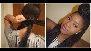 box braid tutorial how to braid your own hair