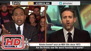 ESPN First Take - Are the NY Knicks the Worst Franchise In Sports?2017