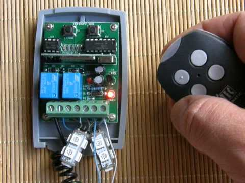 Universal Rolling,fixed code receiver programming procedure with DITEC 433,92MHz remote controls