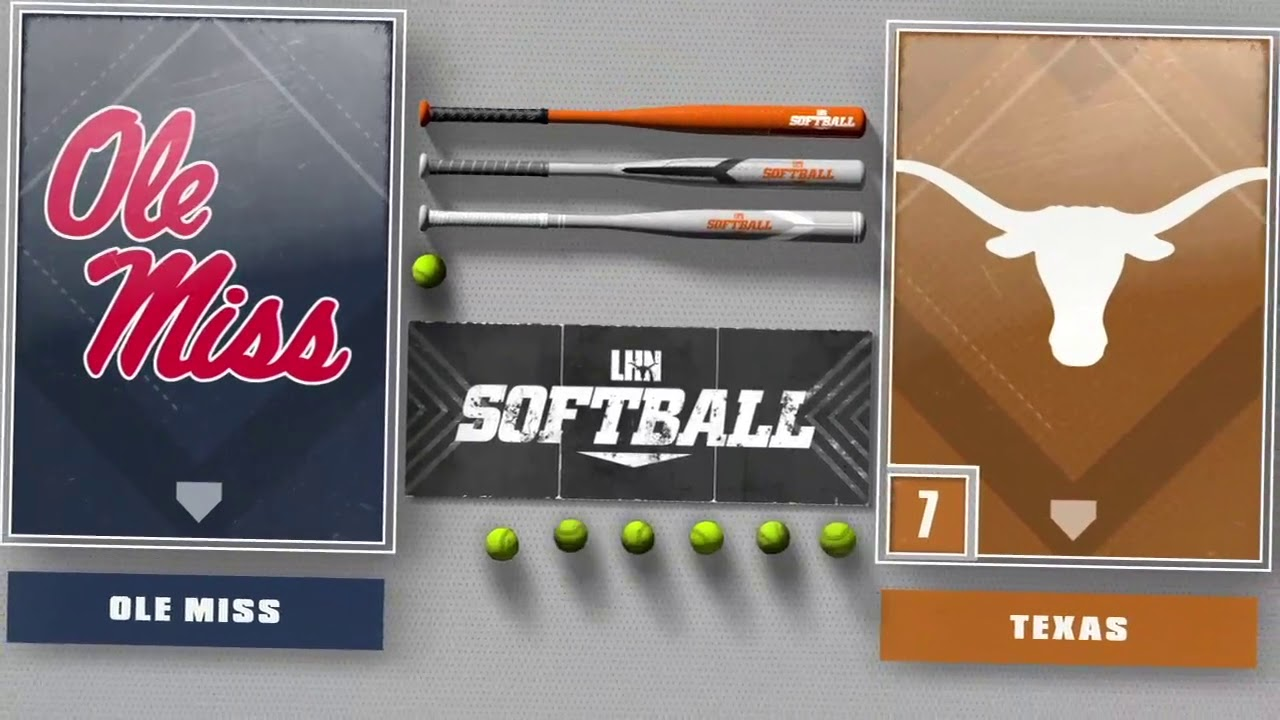Texas Softball vs University of Conn. and University of Miss. LHN Highlights [Feb 28, 20]