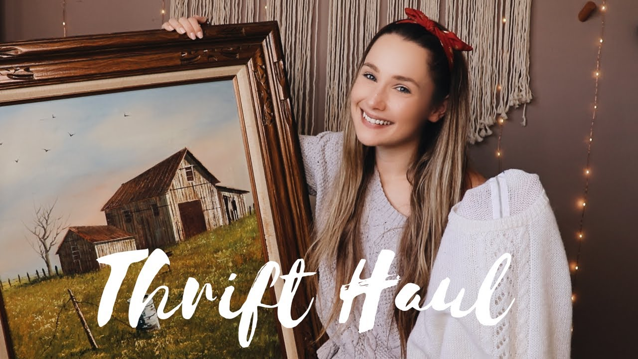 cd09ed0c0 Thrift Store Haul Home Decor And Clothes + Try On