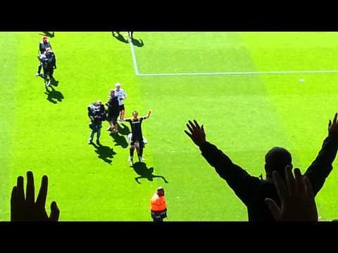 Chelsea fans celebrating Super Frank
