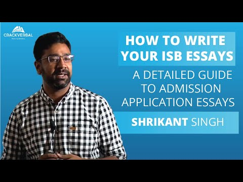 How to write your ISB essays!