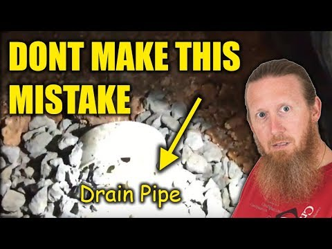 Crawl Space Waterproofing Mistakes | Crawl Space French Drain Installed Incorrectly | Waterproofing