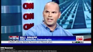 Solar & Economy - SolarFlex Technologies CEO Bill Snapp with CNN Newsroom's Suzanne Malveaux thumbnail