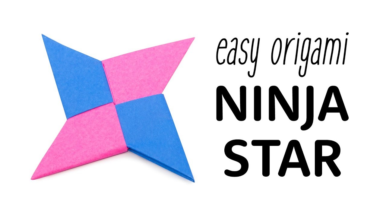 easy crafts ideas to make: origami instructions for kids ninja star | 720x1280