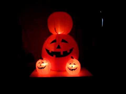 "120 cm Pre-Lit /""Pumpkin/"" Inflatable Halloween Decoration with LED Lights /& Fan"